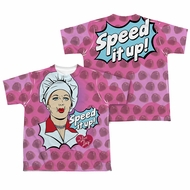 I Love Lucy All Over Speed It Up Sublimation Kids Shirt Front/Back Print