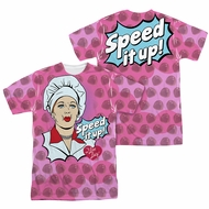 I Love Lucy All Over Speed It Up Sublimation Shirt Front/Back Print