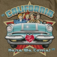 I Love Lucy California Here We Come Shirts