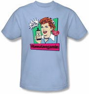 I Love Lucy Clothing - Vitameatavegamin Adult Light Blue Tee
