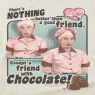 I Love Lucy Friends And Chocolate Shirts