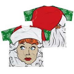 I Love Lucy Secret Santa Sublimation Kids Shirt Front/Back Print