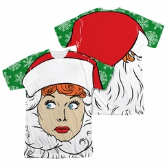 I Love Lucy Secret Santa Sublimation Shirt Front/Back Print
