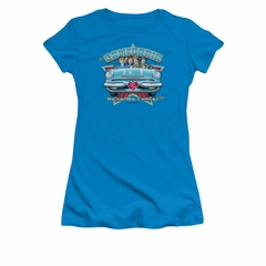 I Love Lucy Shirt California Here We Come Juniors Turquoise Tee T-Shirt