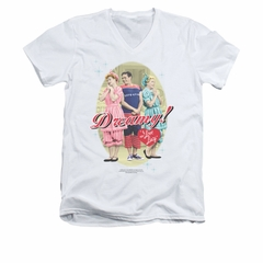 I Love Lucy Shirt Dreamy! Slim Fit V Neck White Tee T-Shirt