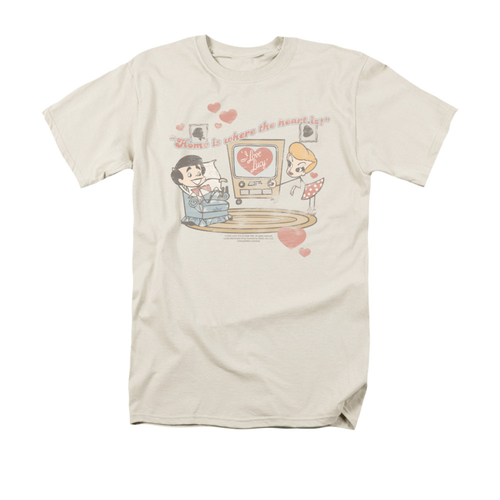 i love lucy shirt home is where the heart is adult cream. Black Bedroom Furniture Sets. Home Design Ideas