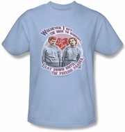 I Love Lucy Shirt - Lucy's Workout Light Blue Adult Tee