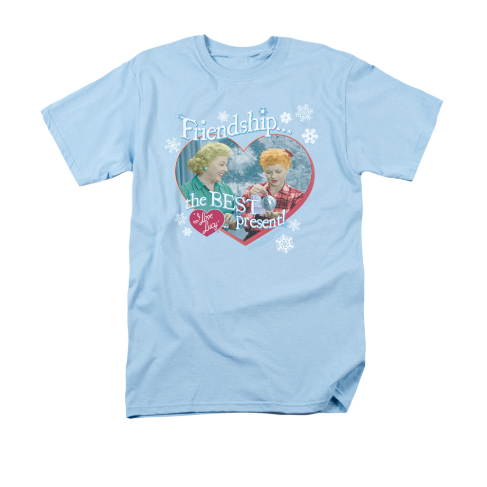 I Love Lucy Shirt The Best Present Adult Light Blue Tee T
