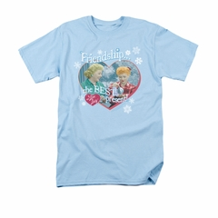 I Love Lucy Shirt The Best Present Adult Light Blue Tee T-Shirt