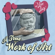 I Love Lucy Work Of Art Shirts