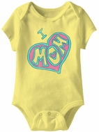 I Love Mommy Funny Baby Romper Yellow Infant Babies Creeper