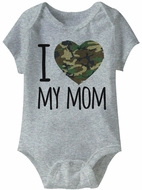 I Love My Army Mom Funny Baby Romper Grey Infant Babies Creeper