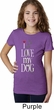 I Love My Dog Girls Shirt
