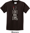I Love My Dog Kids Shirt