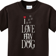I Love My Dog Kids Shirts