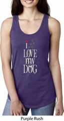 I Love My Dog Ladies Ideal Tank Top