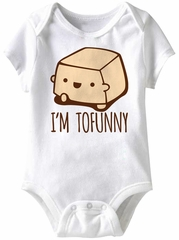 I'm Tofunny Funny Baby Romper White Infant Babies Creeper