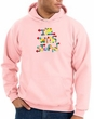 I'm With Stupid Hoodie Sweatshirt - Funny Two Ways Adult Pink Hoody