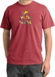 I'm With Stupid Pigment Dyed T-Shirt - Funny Two Ways Dashing Red Tee