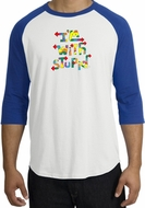 I'm With Stupid Raglan Shirts - Funny Two Ways Adult Tee Shirts