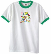 I'm With Stupid Ringer T-Shirt - Funny Two Ways White/Kelly Green Tee