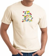 I'm With Stupid T-Shirt - Funny Two Ways Adult Natural Tee Shirt