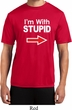 I'm With Stupid White Print Mens Moisture Wicking Shirt