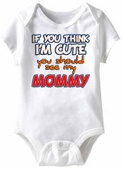 If You Think Funny Baby Romper White Infant Babies Creeper