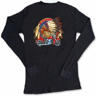 Indian Biker T-shirt - Lightweight Thermal Tee
