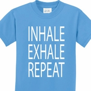 Inhale Exhale Repeat Kids Yoga Shirts