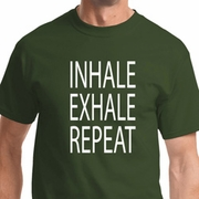 Inhale Exhale Repeat Mens Yoga Shirts