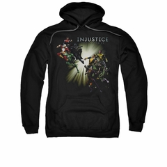 Injustice Gods Among Us Hoodie Good VS Evil Black Sweatshirt Hoody