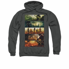 Injustice Gods Among Us Hoodie Panels Charcoal Sweatshirt Hoody