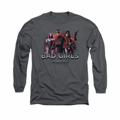 Injustice Gods Among Us Shirt Bad Girls Long Sleeve Charcoal Tee T-Shirt