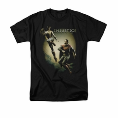 Injustice Gods Among Us Shirt Wonderwoman VS Superman Black T-Shirt
