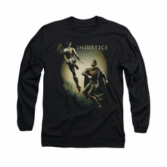 Injustice Gods Among Us Shirt Wonderwoman VS Superman Long Sleeve Black Tee T-Shirt