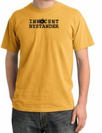 INNOCENT BYSTANDER BLACK Funny Adult Pigment Dyed T-Shirt - Mustard
