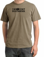 INNOCENT BYSTANDER BLACK Funny Adult Pigment Dyed T-Shirt - Sand