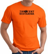 INNOCENT BYSTANDER BLACK Funny Adult T-shirt - Orange