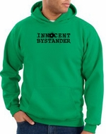 Innocent Bystander Hoodie Black Print Hoody Kelly Green