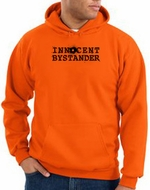 Innocent Bystander Hoodie Black Print Hoody Orange