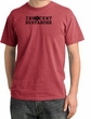 Innocent Bystander Shirt Black Print Pigment Dyed Tee Dashing Red