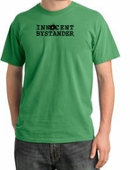 Innocent Bystander Shirt Black Print Pigment Dyed Tee Piper Green