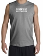 Innocent Bystander Shirt White Print Muscle Shirt Sports Grey