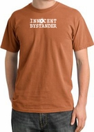 Innocent Bystander Shirt White Print Pigment Dyed Tee Burnt Orange