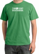 Innocent Bystander Shirt White Print Pigment Dyed Tee Piper Green
