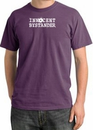 INNOCENT BYSTANDER WHITE Funny Adult Pigment Dyed T-Shirt - Plum