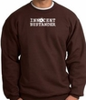 INNOCENT BYSTANDER WHITE Funny Adult Pullover Sweatshirt - Brown