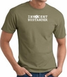 INNOCENT BYSTANDER WHITE Funny Adult T-shirt - Army
