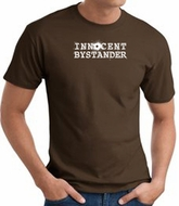 INNOCENT BYSTANDER WHITE Funny Adult T-shirt - Brown